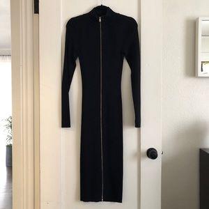Zara front zipper dress
